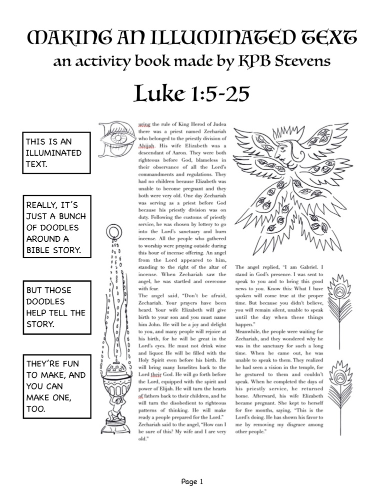 Illumination Text workbook for Luke 1.5-25 page 1