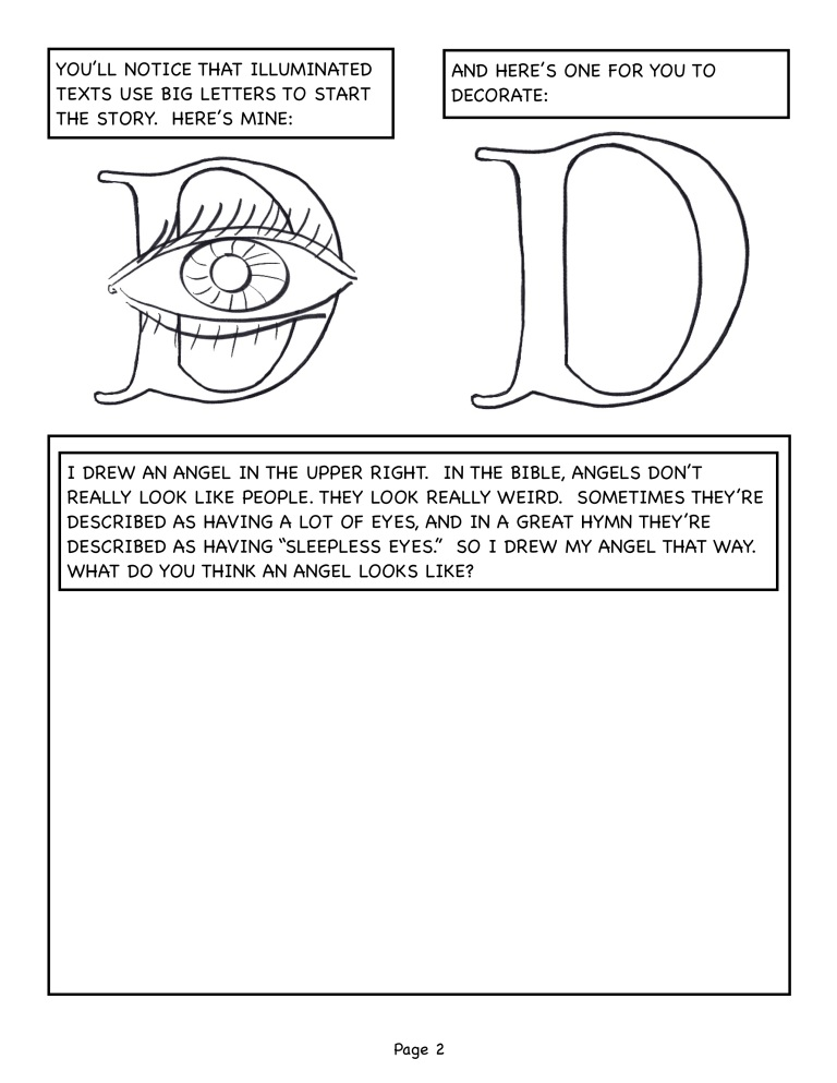 Illumination Text workbook for Luke 1.5-25 page 2